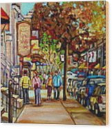 Montreal Streetscenes By Cityscene Artist Carole Spandau Over 500 Montreal Canvas Prints To Choose  Wood Print
