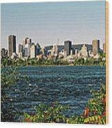 Montreal - Sur Le Fleuve  Wood Print