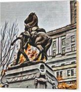 Montreal War Horse Wood Print