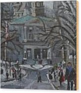 Montreal Winter Mcgill Wood Print