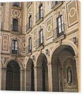 Montserrat Monastery Courtyard Wood Print