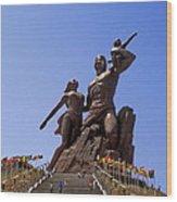 Monument De La Renaissance Africanne Wood Print