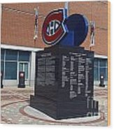 Monument For The Montreal Canadiens Wood Print
