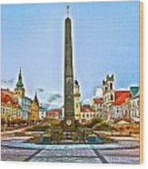 Monument In B.bystrica Wood Print