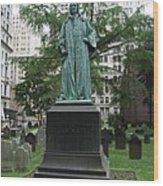 Monument John Watts Trinity Churchyard New York Wood Print