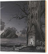 Monument Wood Print by Keith Kapple