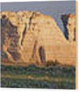 Monument Rocks Panorama Wood Print