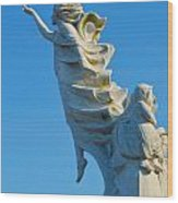 Monument To The Immigrants Statue 1 Wood Print