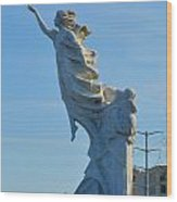 Monument To The Immigrants Statue 2 Wood Print