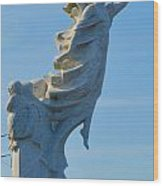 Monument To The Immigrants Statue 4 Wood Print