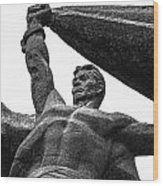 Monument To The People 0131 - Textured Pencil Wood Print