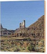 Monument Valley Arizona State Usa Wood Print