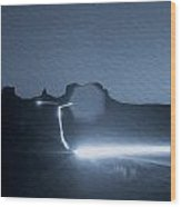 Monument Valley At Night 2 Wood Print
