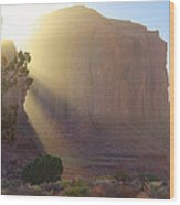 Monument Valley At Sunset 2 Wood Print