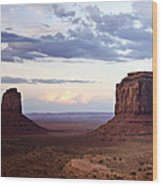 Monument Valley At Sunset Wood Print