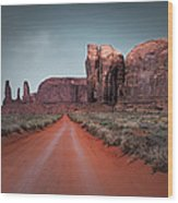 Monument Valley Wood Print by Cindy Rubin