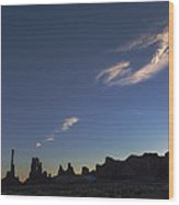 Monument Valley Dawn Wood Print