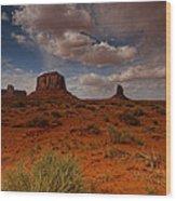 Monument Valley Desert Wood Print