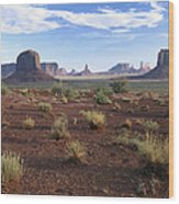 Monument Valley From North Window Wood Print