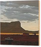 Monument Valley Glow 1 Wood Print