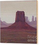 Monument Valley- Haze Wood Print