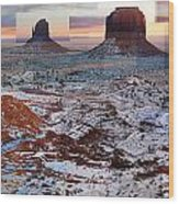 Monument Valley Mittens Wood Print