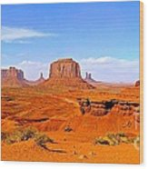 Monument Valley - Panorama Wood Print