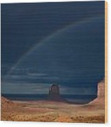 Monument Valley Rainbows 2 Wood Print