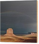 Monument Valley Rainbows 3 Wood Print