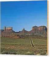 Monument Valley Road Wood Print