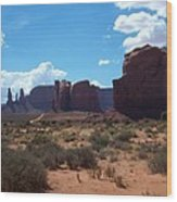 Monument Valley Scenic View Wood Print