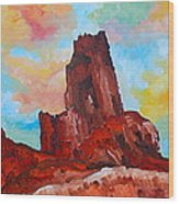 Monument Valley Standing Tall Wood Print