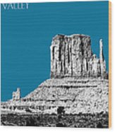 Monument Valley - Steel Wood Print by DB Artist