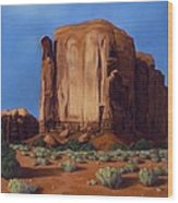 Monument Valley- Sunlit Wood Print