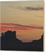 Monument Valley Sunset 1 Wood Print