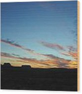 Monument Valley Sunset 2 Wood Print