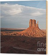 Monument Valley Sunset Wood Print