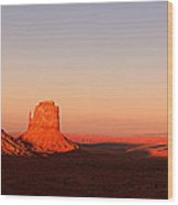 Monument Valley Sunset Pano Wood Print