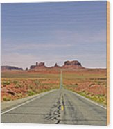 Monument Valley - The Classic View Wood Print