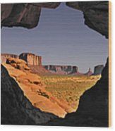Monument Valley - The Untamed West Wood Print
