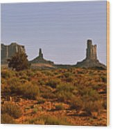 Monument Valley - Unusual Landscape Wood Print by Christine Till