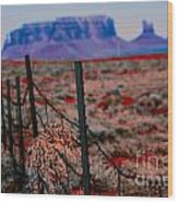 Monument Valley -utah V13 Wood Print