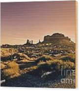 Monument Valley -utah V7 Wood Print