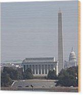 Monument View From Iwo Jima Memorial - 12121 Wood Print