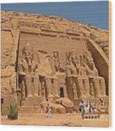 Monumental Abu Simbel Wood Print