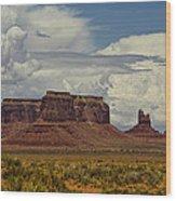 Monumental Clouds  Wood Print