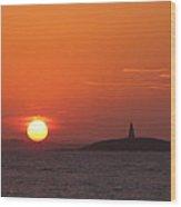 Monumental Sunset Wood Print