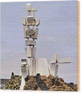 Monumento Al Campesino On Lanzarote Wood Print