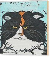 Moo Shu Cat Wood Print