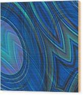 Mood In Blues Wood Print